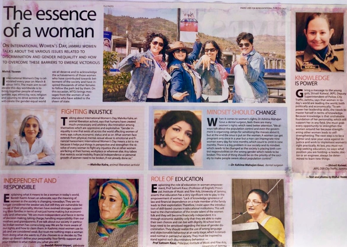 TOI Jammu - International Women's Day - March 2020